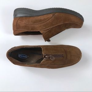 Dr. Scholl's Slip on Zip Up Brown Shoes Size 10